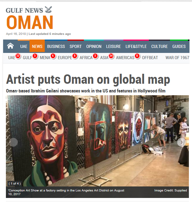 Artist Puts Oman on Global Map