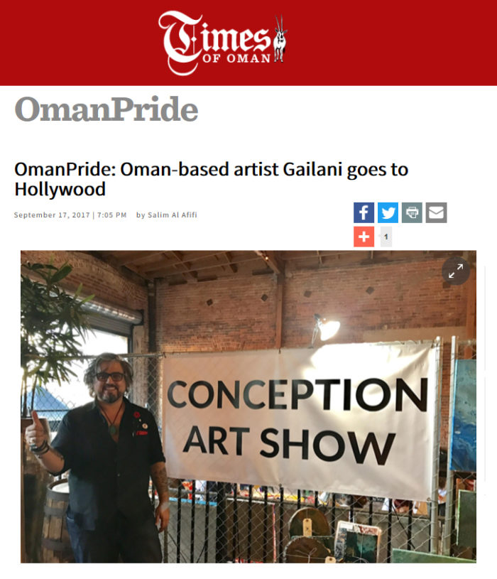 OmanPride: Oman-based artist Gailani goes to Hollywood