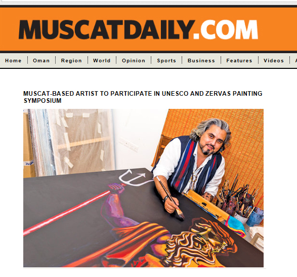 Muscat-based artist to participate in UNESCO and Zervas painting symposium