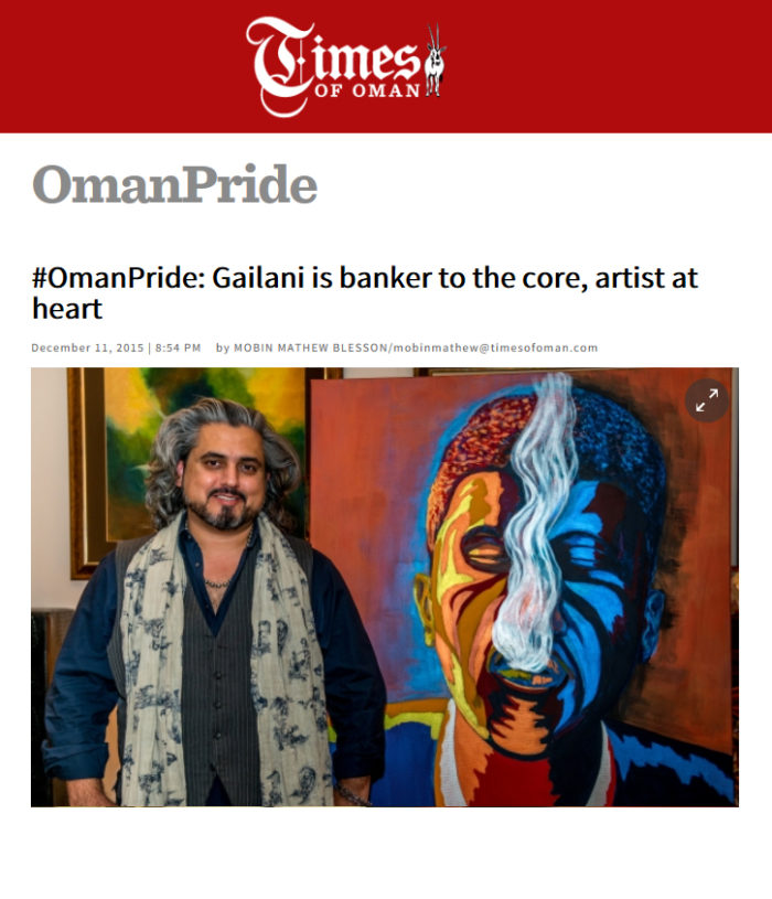 OmanPride: Gailani is banker to the core, artist at heart